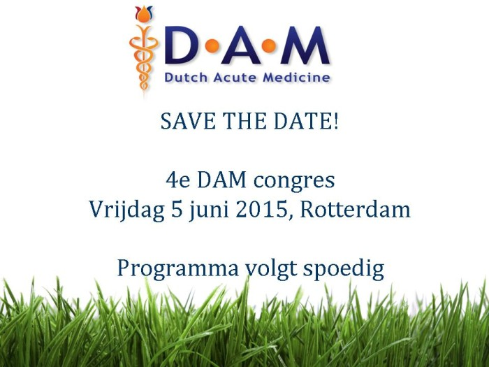 Flyer save the date 4e DAM congres
