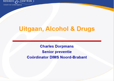 Uitgaan, alcohol en drugs