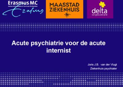 Acute psychiatrie voor de acute internist